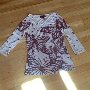 INC Butterfly shirt S